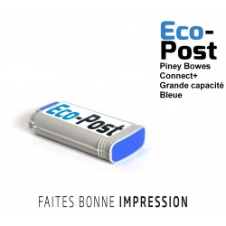 Cartouche Pitney Bowes ® Bleue grande capacité Connect+1000 / Connect+ 2000 / Connect+ 3000 compatible