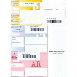 Recommandé internationaux A4 avec A/R et code barres