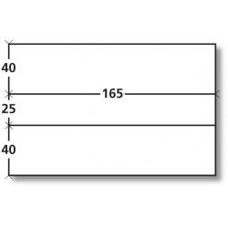 Boite de 1000 étiquettes doubles blanches 165 x (2x40) +25mm