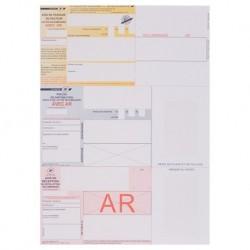 Recommandé A4 avec AR dans code barre